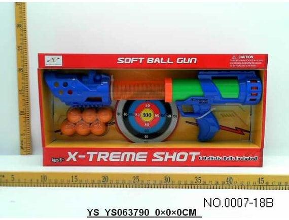 Бластер с мягкими шариками 0007-18B