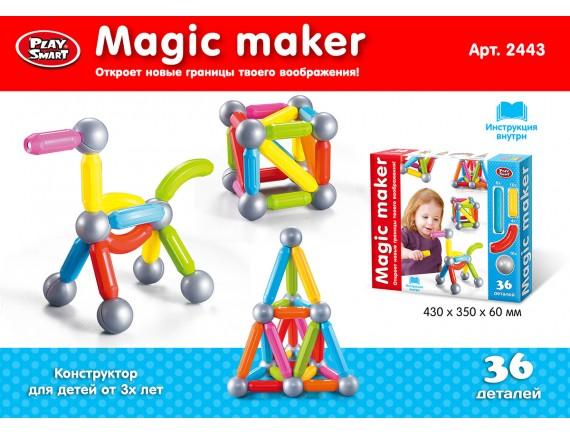 """Магнитный конструктор из 36 деталей """" Магический творец"""" 2443"""