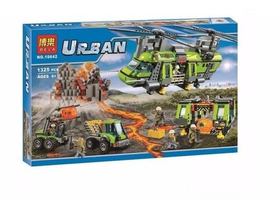 Конструктор BELA Urban «Грузовой вертолет исследователей вулканов» 10642
