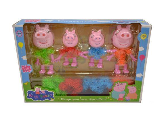 Мягкий конструктор-липучка «Свинка Пеппа» с семьей