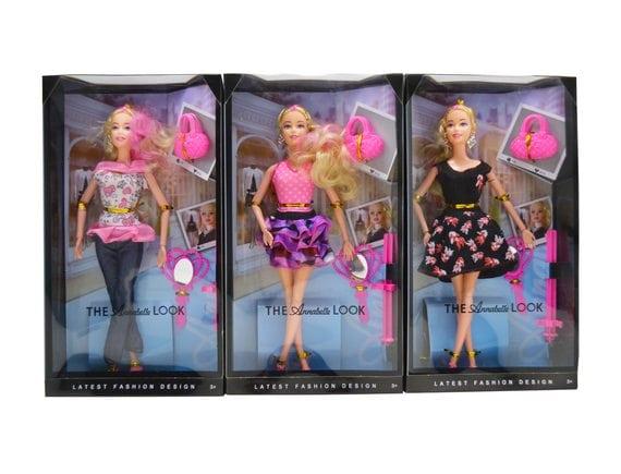 Кукла на шарнирах  «Аннабель» ( 3 вида). Артикул: 1848-1