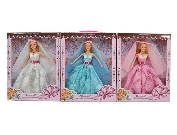 Кукла в роскошном платье (3 вида) Артикул: F215E