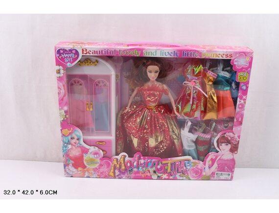 Кукла Happy Girl с набором одежды и аксессуарами