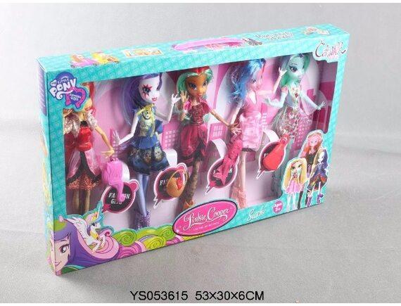 Набор из 5-ти кукол Пони