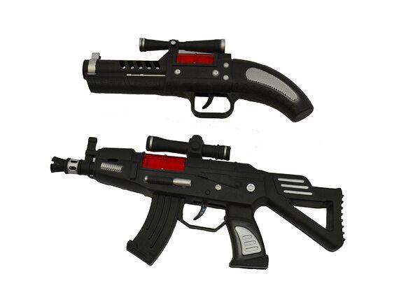 Детское оружие с трещоткой, и оптическим прицелом (два вида),  Артикул: 868-A