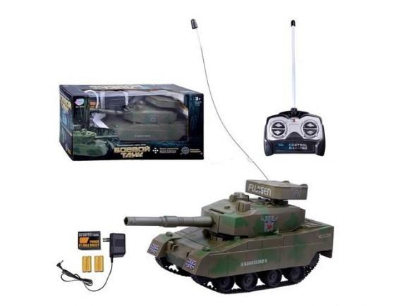"""Радиоуправляемая модель танка """"БОЕВОЙ ТАНК,стреляет пульками 2 цвета. Артикул: 9344"""