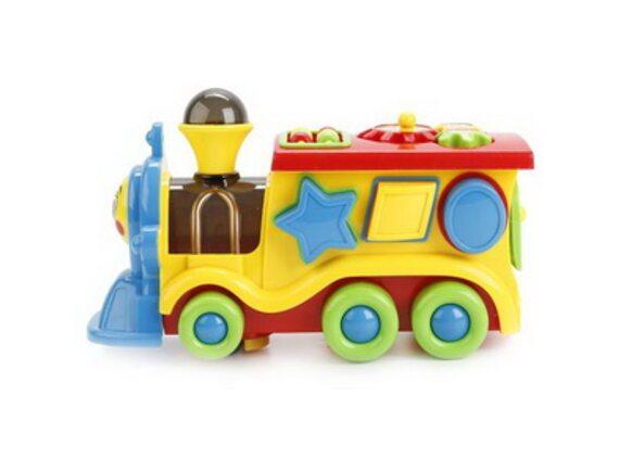 """Развивающая игрушка-сортер """"Занимательный паровозик"""" на батарейках. Артикул: 3202"""