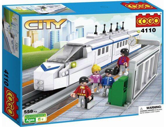 """COGO конструктор CITY """"Скоростной поезд"""" 4110"""