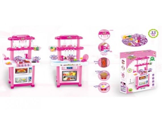 Детский игровой набор Happy Little Chef (свет, звук, вода), 33 предметов. Артикул: 768B