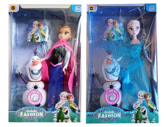"Кукла Ельза и Анна ""Frozen "" музыка и свет 829-327"