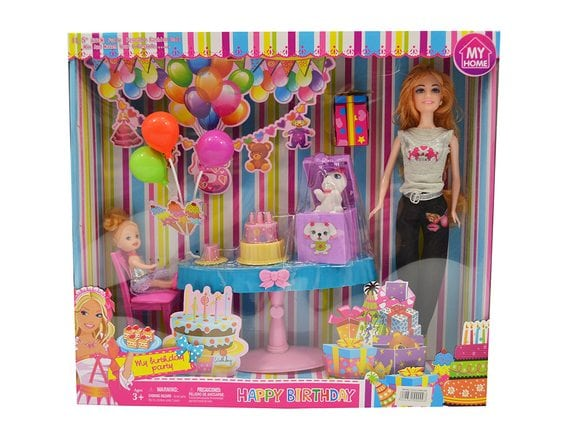 Кукла в игровом наборе «День рождения» JX600-68B