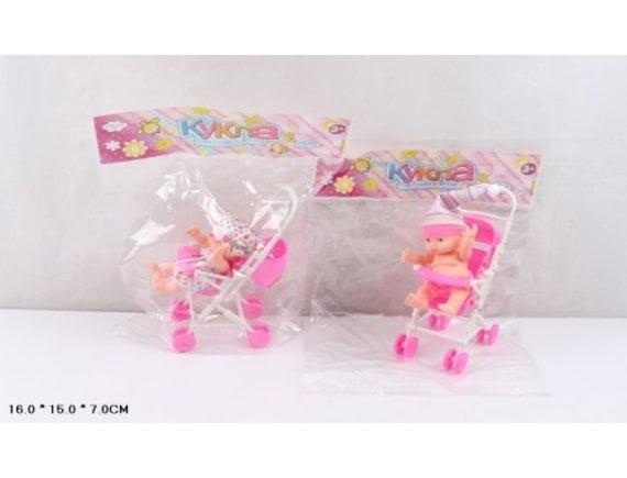 "Кукла в пакете ""Малыш в коляске"" Артикул: KY585-22"