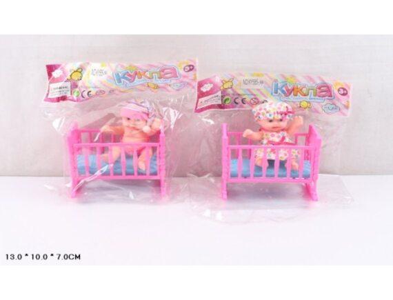 """Кукла в пакете """"Малыш в кроватке"""" Артикул: KY585-34"""