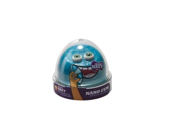 "Пластилин для лепки ""Жвачка для рук ""Nano gum"", серебристо-голубой"", 50 гр NG2SG50"