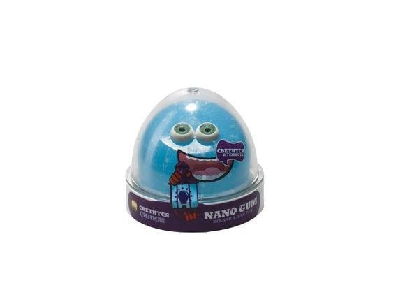 Жвачка для рук Nano Gum (светится в темноте), синяя, 50 гр NGBG50