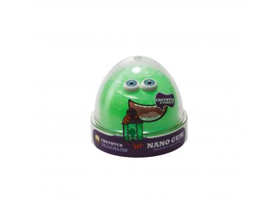 """Пластилин для лепки """"Жвачка для рук """"Nano gum"""", светится зеленым"""", 50 гр NGGG50"""
