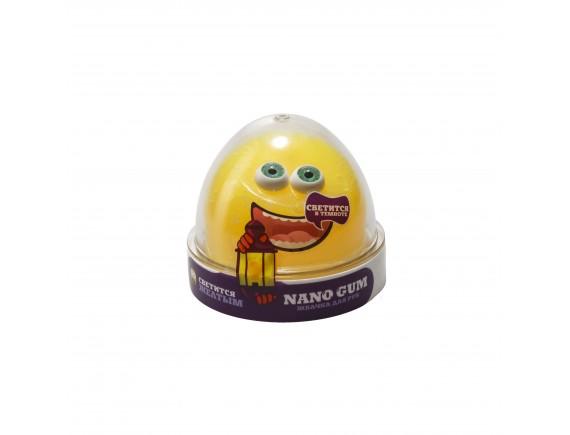 """Пластилин для лепки """"Жвачка для рук """"Nano gum"""", светится желтым"""", 50 гр NGYG50"""