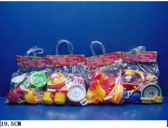 Набор пластиковой посуды в пакете SF977ABCD