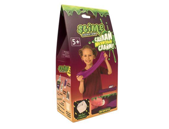 Малый набор для девочек Slime Лаборатория, фиолетовый магнитный, 100 гр SS100-30181