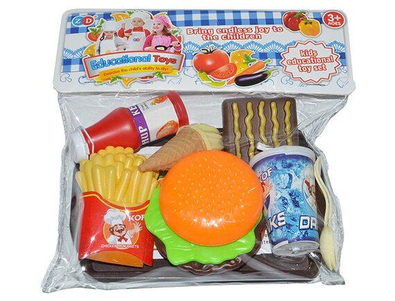 Пластиковая еда в наборе «Фаст-фуд» ZD893-86AB