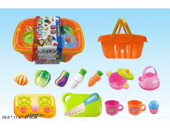 Набор пластиковой еды и посуды Артикул: 228D2
