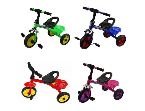 Детский трехколесный велосипед с корзиной. Артикул: H002M